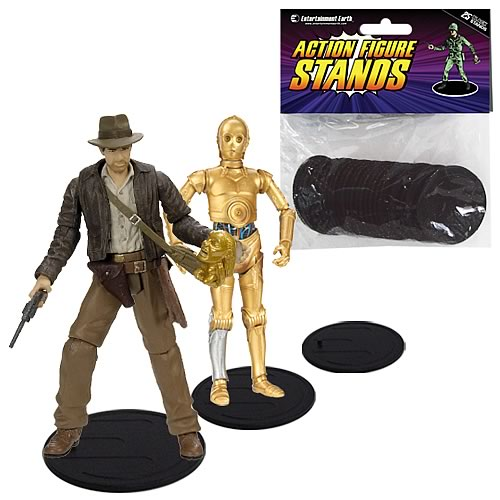Action Figure Stands Case - Black