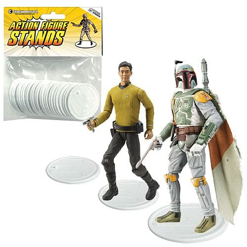 Action Figure Stands Case - White