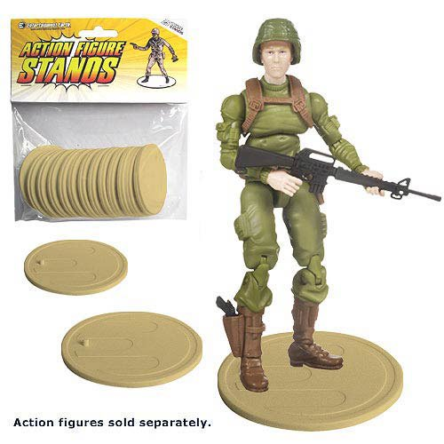 Action Figure Stands Case - Tan