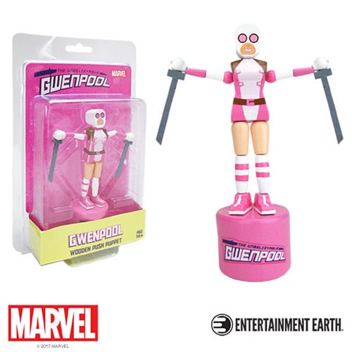 Gwenpool Wooden Push Puppet