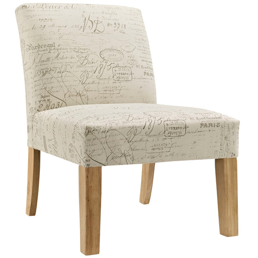 Auteur Upholstered Fabric Side Chair 1400-WHI