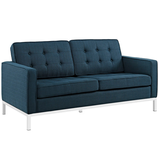 Loft Upholstered Fabric Loveseat 2051-AZU