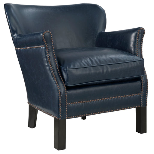 Key Upholstered Vinyl Armchair 2153-BLU