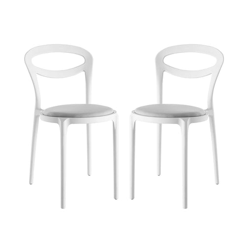 Assist Dining Side Chair Set of 2 2426-WHI-GRY-SET