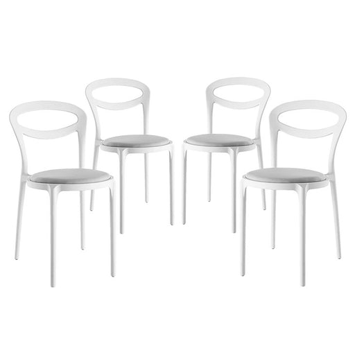 Assist Dining Side Chair Set of 4 2427-WHI-GRY-SET