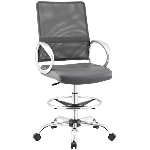 Command Mesh and Vinyl Drafting Chair 2865-GRY
