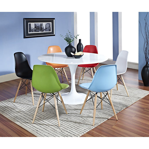 Lippa 7 Piece Fiberglass Dining Set