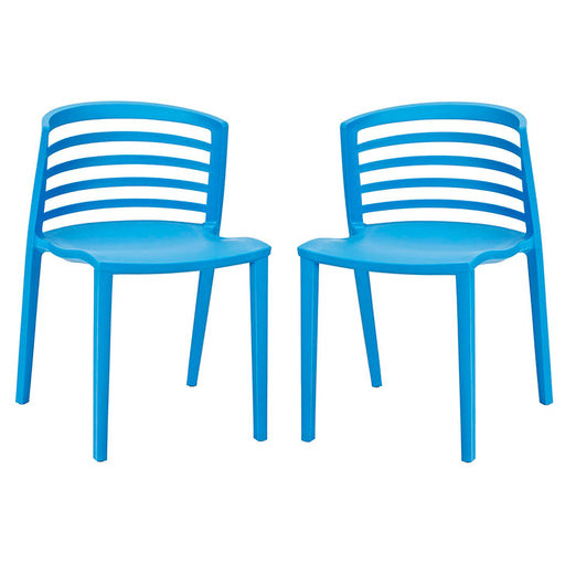 Curvy Dining Chairs Set of 2 935-BLU