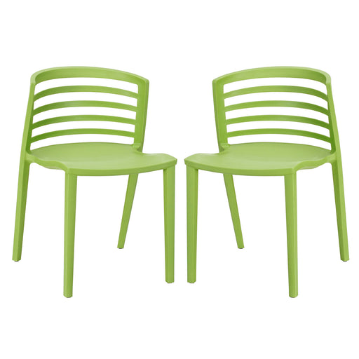 Curvy Dining Chairs Set of 2 935-GRN