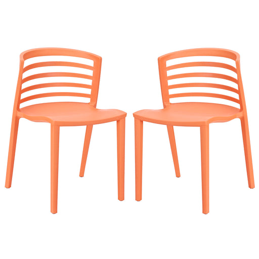 Curvy Dining Chairs Set of 2 935-ORA