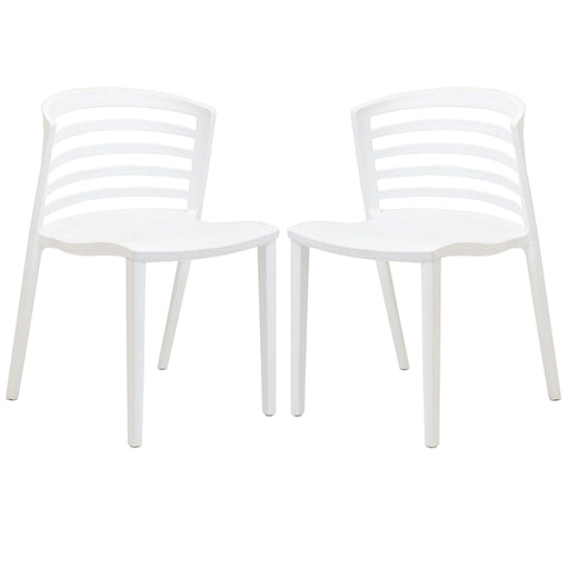Curvy Dining Chairs Set of 2 935-WHI