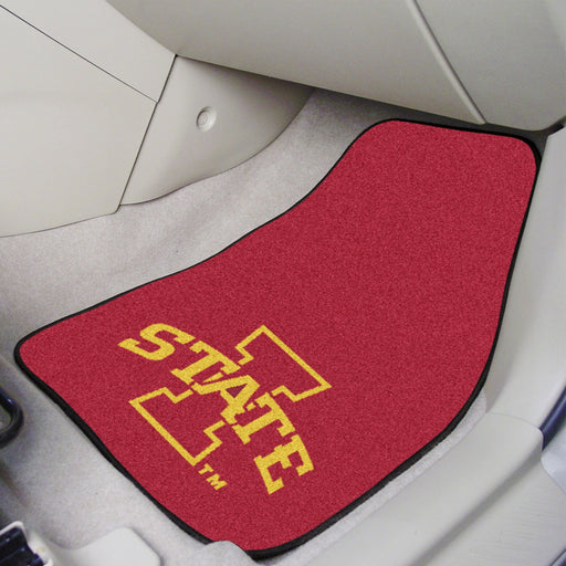 Iowa State 2-piece Carpeted Car Mats 17x27