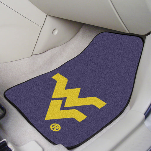 West Virginia University 2-piece Carpeted Car Mats 17x27