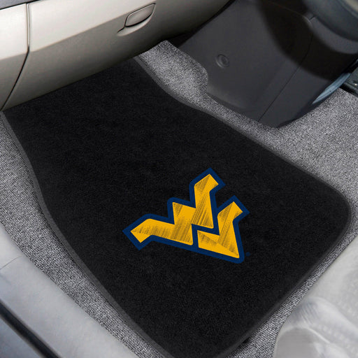 West Virginia University 2-piece Embroidered Car Mats 18x27
