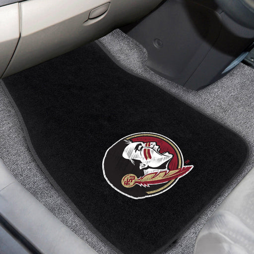Florida State 2-piece Embroidered Car Mats 18x27