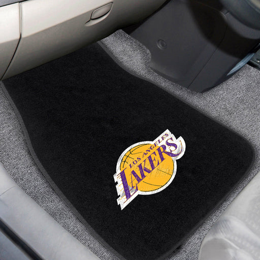 NBA - Los Angeles Lakers 2-piece Embroidered Car Mats 18x27