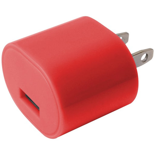 1A USB WALL CHRGR RED