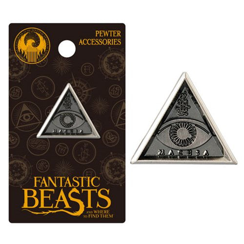 Fantastic Beasts MACUSA Triangle Eye Pewter Lapel Pin