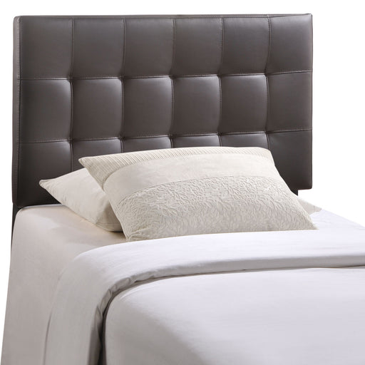 Lily Twin Upholstered Vinyl Headboard 5149-BRN