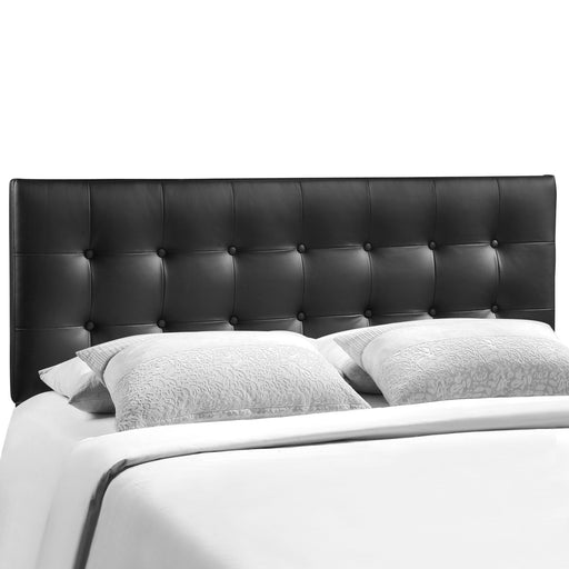 Emily King Upholstered Vinyl Headboard 5175-BLK