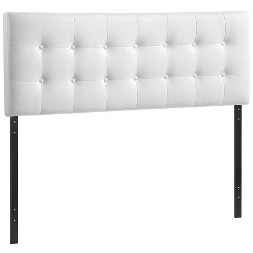 Emily King Upholstered Vinyl Headboard 5175-WHI