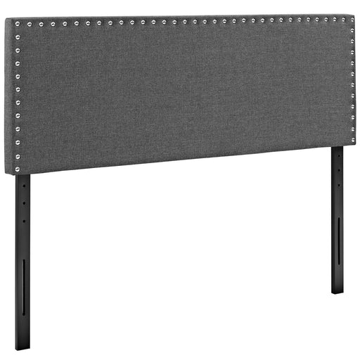 Phoebe King Upholstered Fabric Headboard 5388-GRY