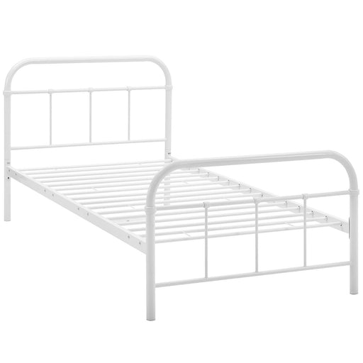 Maisie Twin Stainless Steel Bed Frame 5531-WHI-SET