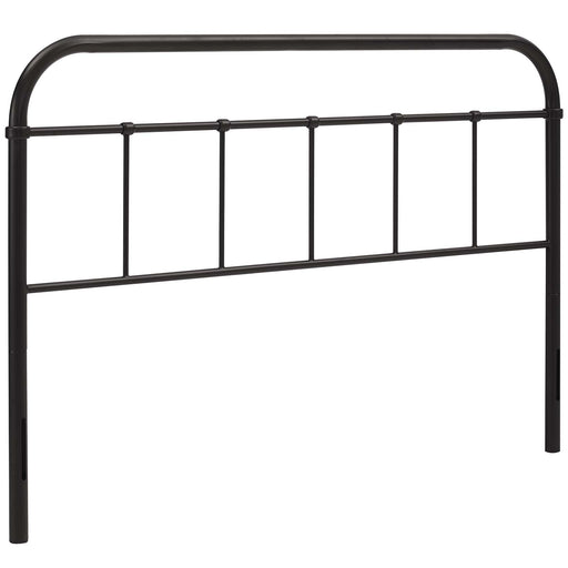 Serena Queen Steel Headboard 5536-BRN