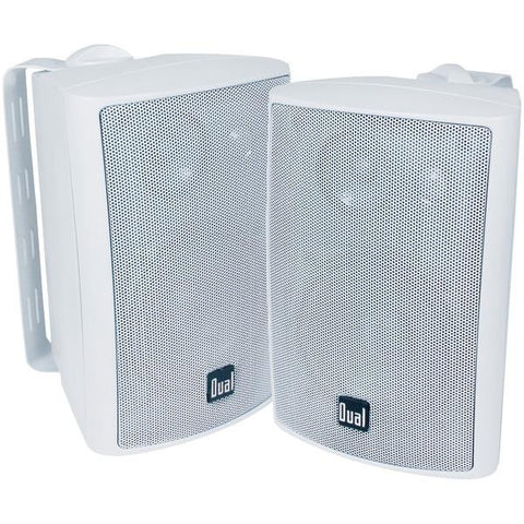 "Dual Lu43pw 4"" 3-way Indoor-outdoor Speakers (white)"