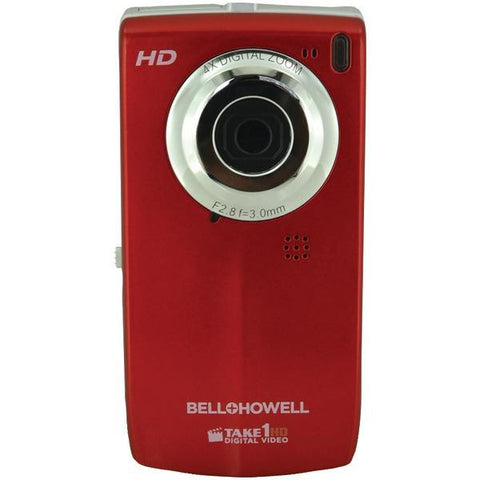 Bell+howell T100hd-r 5.0 Megapixel Take1hd Digital Video Camera With Flip-out Lcd Screen (red)