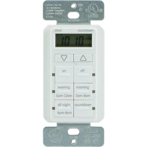 GE 25055 TouchSmart(TM) In-Wall Digital Timer with 6 Pushbuttons