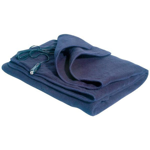 Maxsa Innovations 20013 Comfy Cruise(r) Heated Travel Blanket (navy Blue)