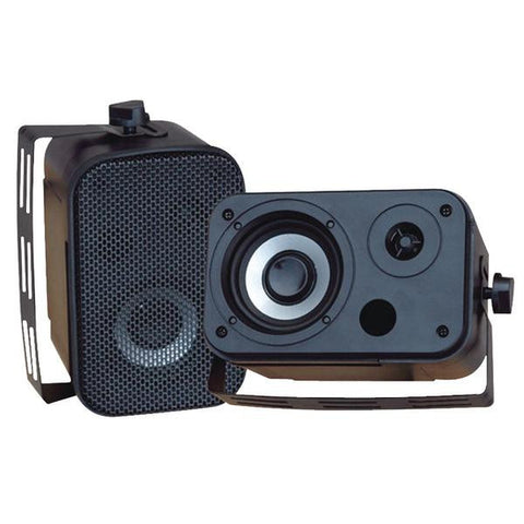 Pyle Pdwr30b 3.5'''' Indoor-outdoor Waterproof Speakers (black)