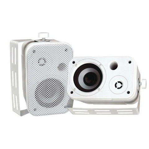 "Pyle Pdwr30w 3.5"" Indoor-outdoor Waterproof Speakers (white)"
