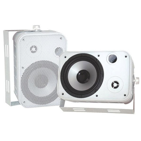 "Pyle Pdwr50w 6.5"" Indoor-outdoor Waterproof Speakers (white)"