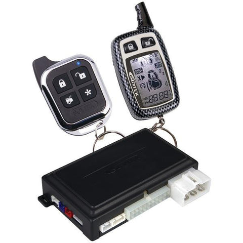 Astra Astra 4.2w 2-way Remote Security & Engine-start System With Keyless Entry, 1 Lcd Chrome 5-bu