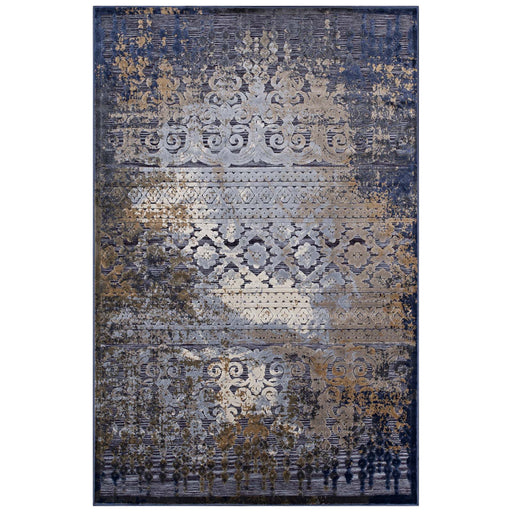 Kalene Distressed Vintage Turkish Area Rug 1098A-810