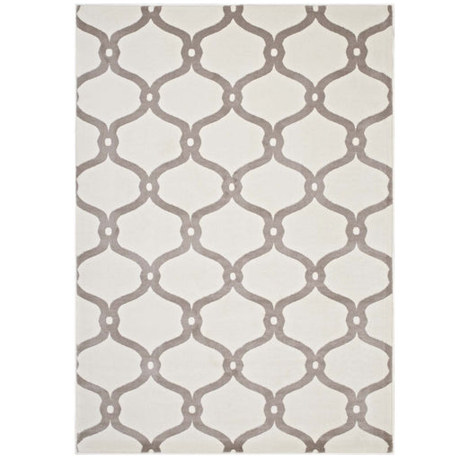 Beltara Chain Link Transitional Trellis 5x8 Area Rug 1129C-58