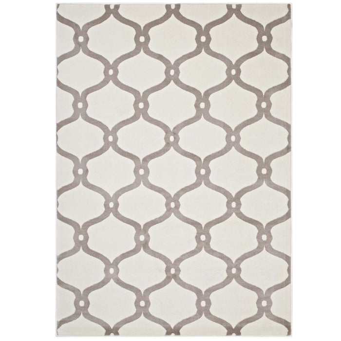Beltara Chain Link Transitional Trellis 8x10 Area Rug 1129C-810