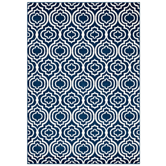 Frame Transitional Moroccan Trellis 8x10 Area Rug 1130C-810