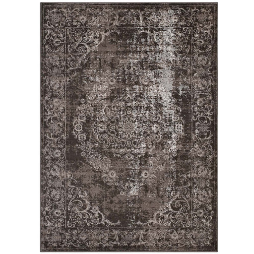 Gamela Rustic Vintage Ornate Floral Medallion 8x10 Area Rug 1132A-810