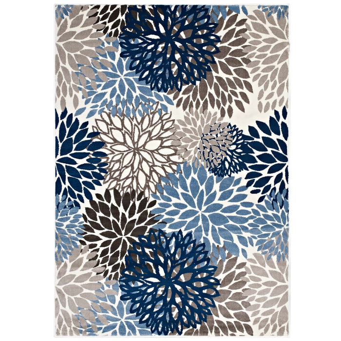 Calithea Vintage Classic Abstract Floral 5x8  Area Rug 1133A-58