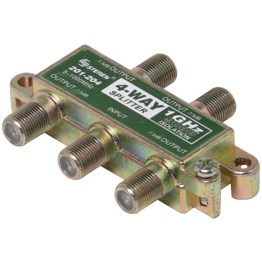 4WAY SPLITTER 1GHZ 90DB