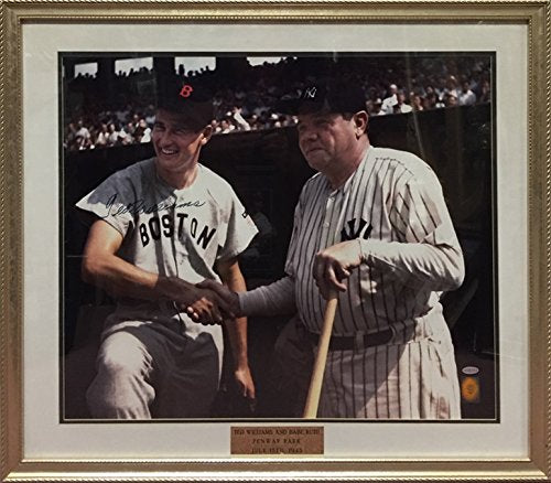 Ted Williams Signed 20x24 with Babe Ruth - Very Limited