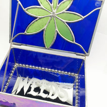 Load image into Gallery viewer, WEEDS® Glass - Stained Glass Treasure Box - Purple and blue