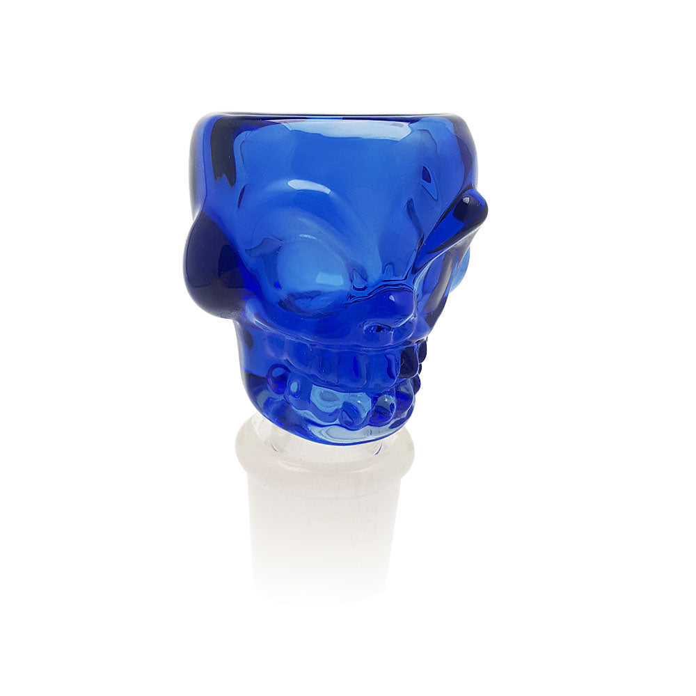 GEAR Premium® Glass - Large Skull Pull-out Bowl (Misc Colors) - 18mm (M)