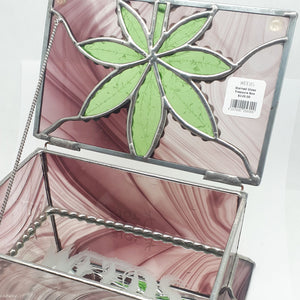 WEEDS® Glass - Stained Glass Treasure Box - Pink