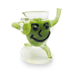 Redbeard Glass – Koolaid Man Dab rig with Quartz banger 10mm (F) – Green