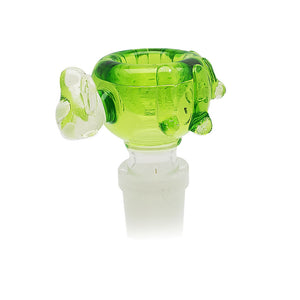 Skullfish Glass – UV Reactive Glass Bowl – 14mm (M) – Clear Green style 1