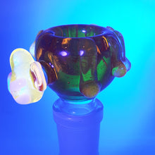 Load image into Gallery viewer, Skullfish Glass - UV Reactive Honey pot - Clear Orange